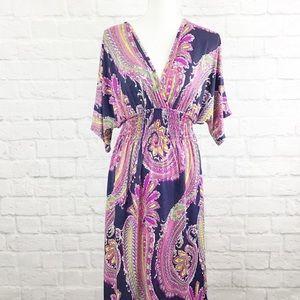 Dresses & Skirts - Multi print Floor length dress in size XL